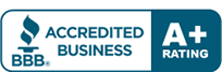 We are a BBB Accredited Business with an A+ rating. Click here to go to BBB Website